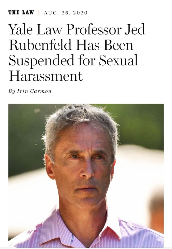 Jeb Rubenfeld Suspended for sexual misconduct
