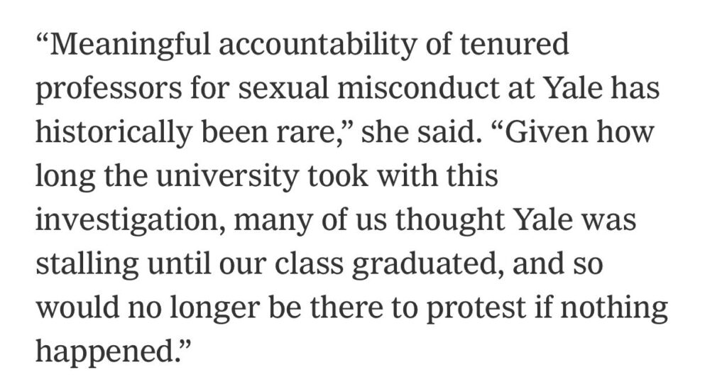 Yale Law School sexual misconduct