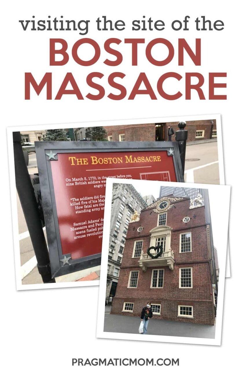 Visiting the exact location of the Boston Massacre