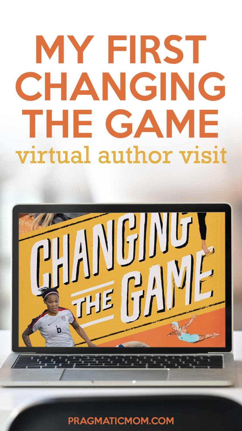 My first CHANGING THE GAME virtual author visit