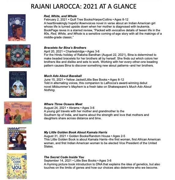 Rajani LaRocca 2021 Books