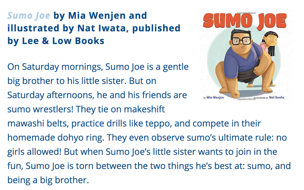 Sumo Joe Reading Partners book list
