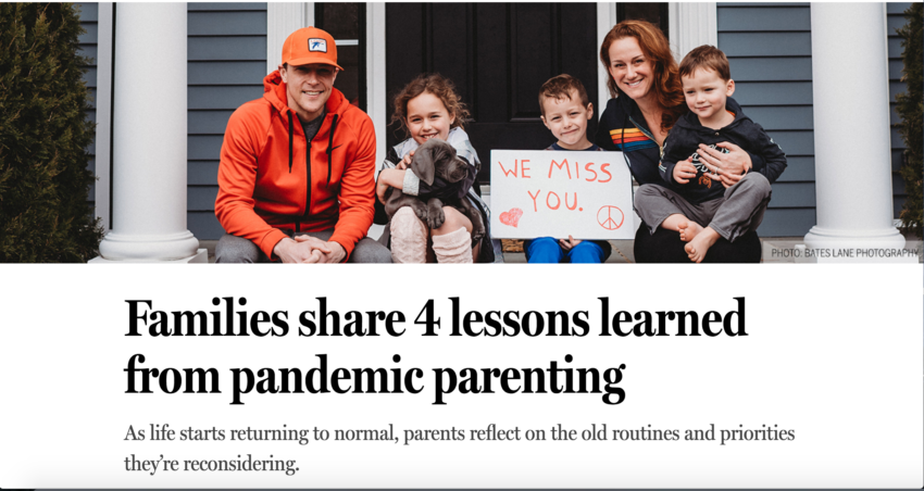 Families share 4 lessons learned from pandemic parenting